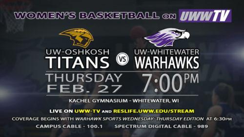 UWW-TV Broadcasting Warhawk Women's Basketball WIAC Semi-Final This Thursday LIVE!