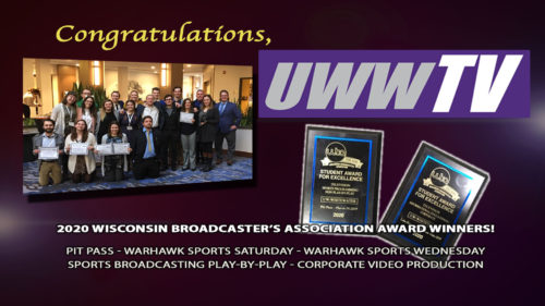 UWW-TV/Communication Students Recognized at 2020 Wisconsin Broadcasters Association Student Seminar 2020
