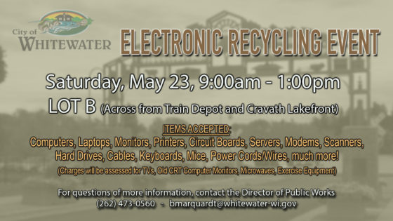 City of Whitewater Electronic Recycling Event