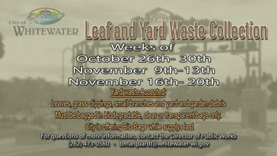 PUBLIC SERVICE ANNOUNCEMENT Leaf and Yard Waste Collection