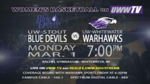 Women's basketball first round playoffs – Warhawks vs. Blue Devils