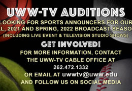 Sports announcers for Fall 2021 and Spring 2022
