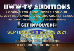 UWW-TV News and Sports auditions