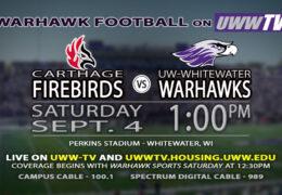 Warhawks vs. Firebirds: September 4th at 1 pm