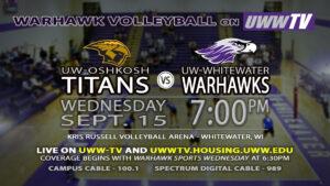 UWW vs. UWO: Volleyball tonight at 7:00 pm